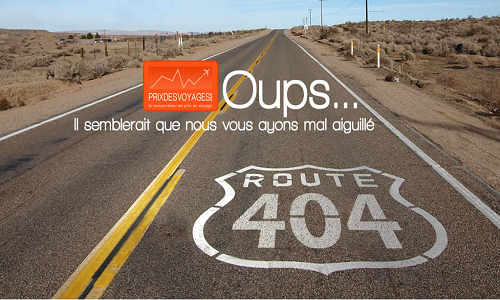 Page 404 prix des voyages