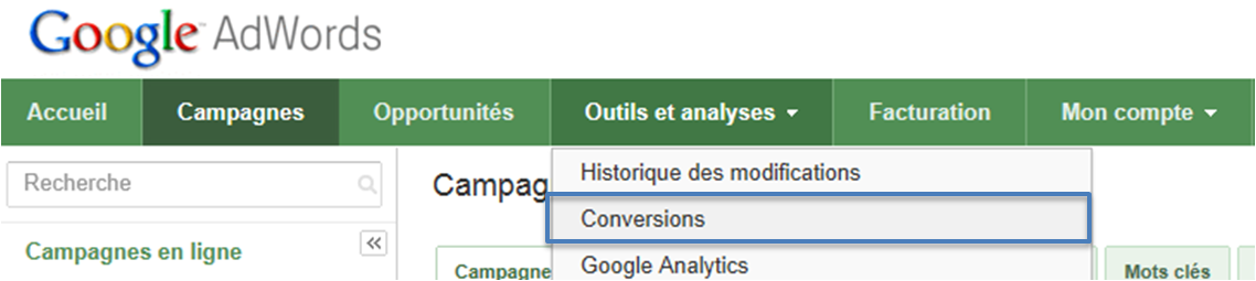 conversions Adwords