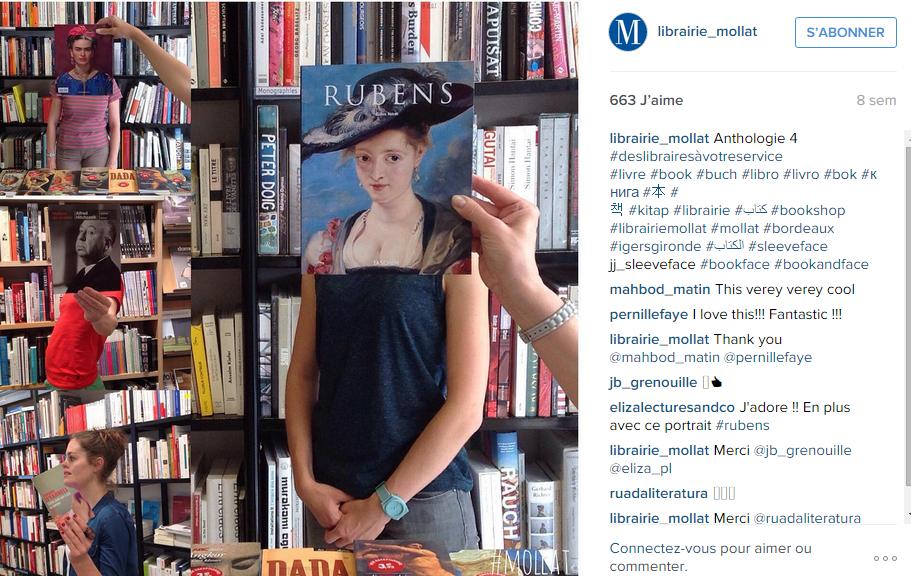 librairie instagram