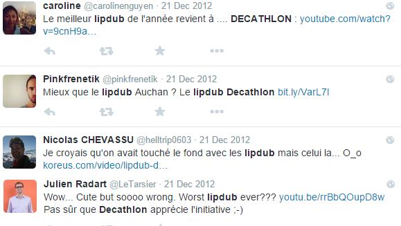 lipdub décathlon réactions 2