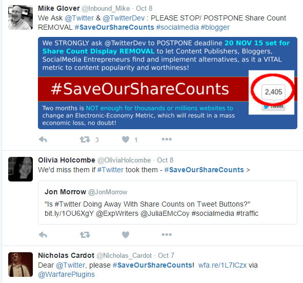 #Saveoursharecount