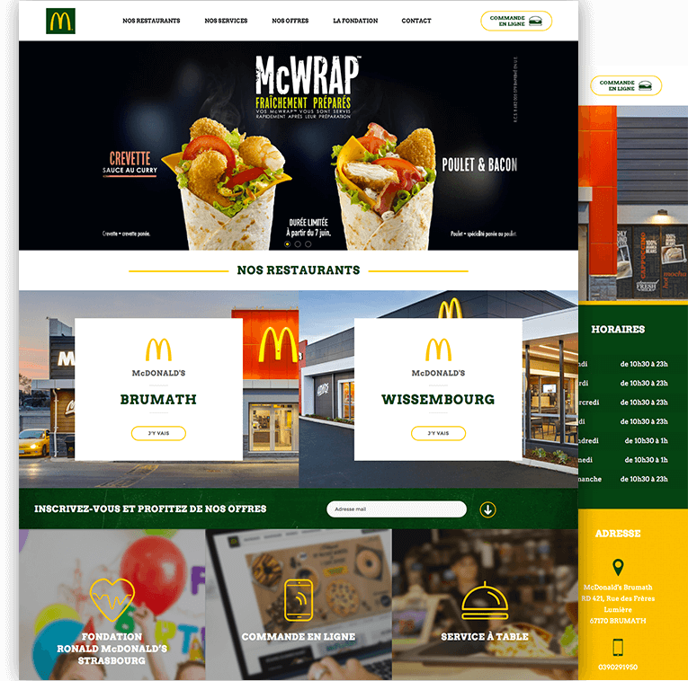 site web McDonald's